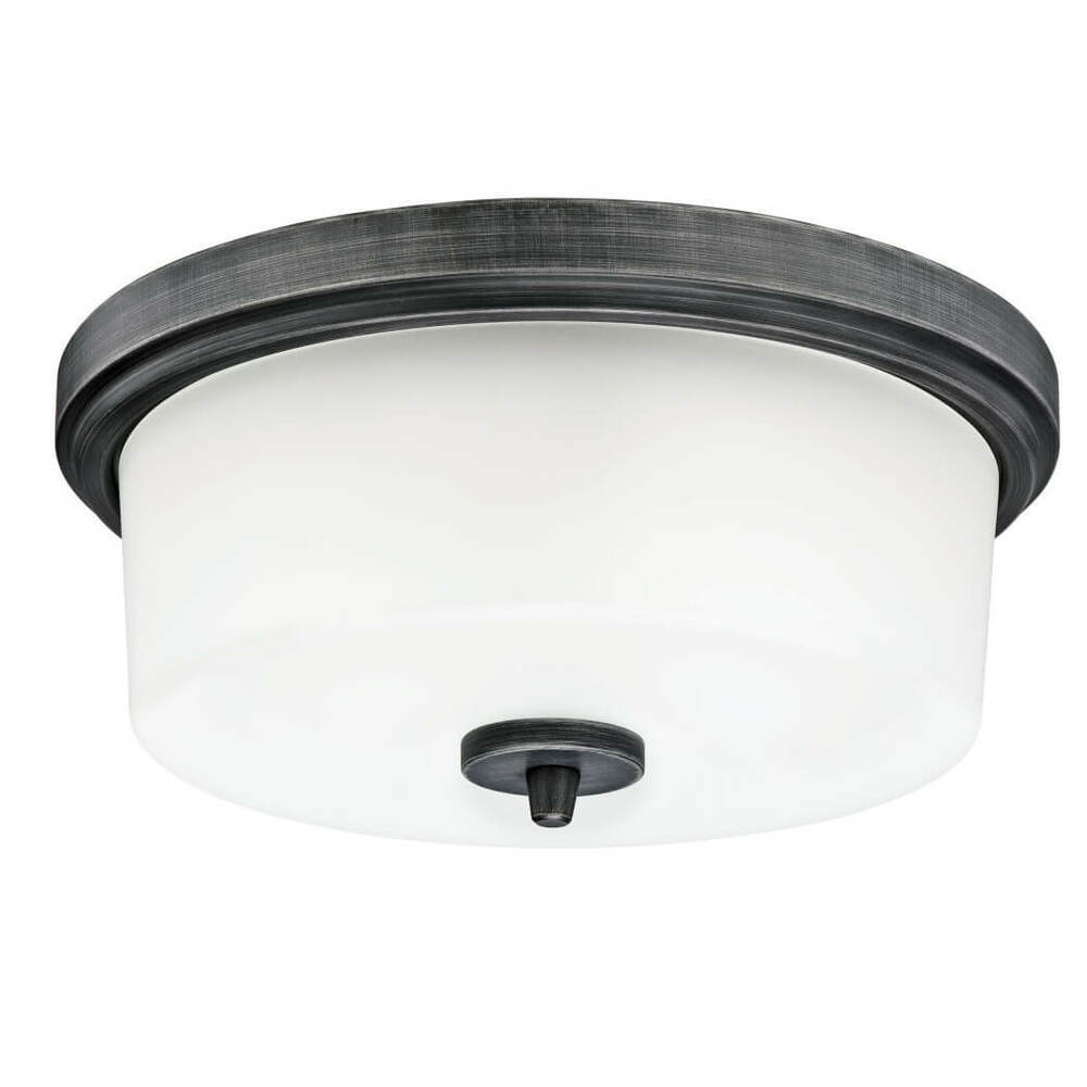 Details About Courtfield Two Bulb Indoor Flush Mount Ceiling Light In Distressed Aluminium