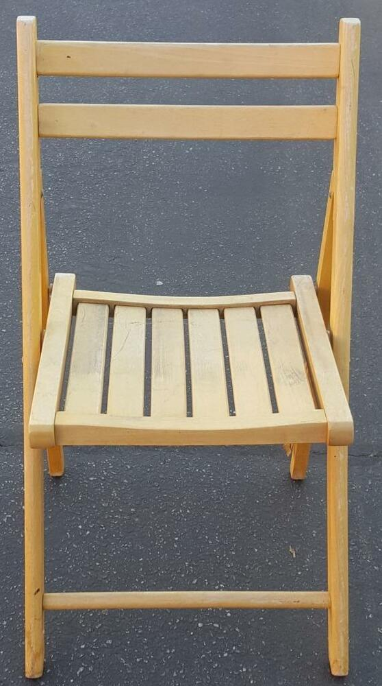 Nice Used Solid Wood Folding Chair World Market Brand Good Sy Construction Ebay
