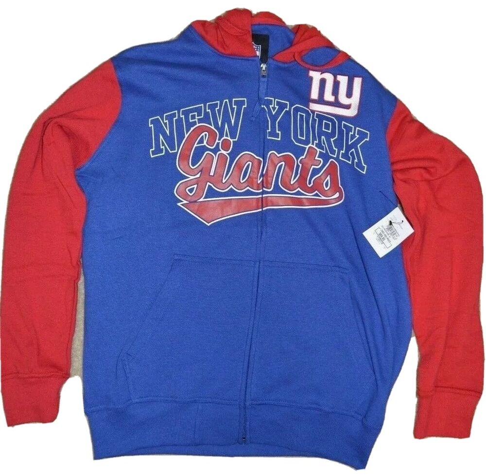 Details about NEW YORK GIANTS OFFICIAL NFL GIII CONTRAST HOODIE   T-SHIRT  COMBO-SIZE L-NWT bca956a99