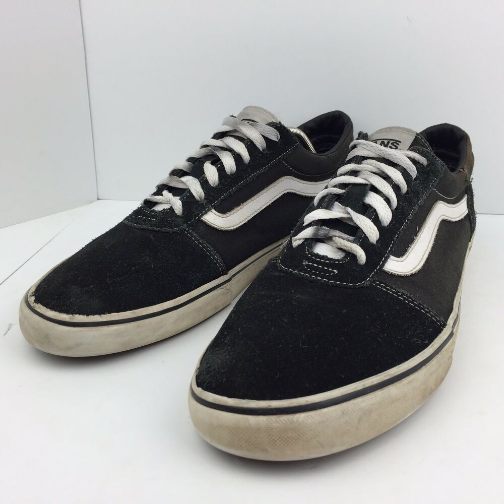 20eacb0a091 Details about vans old skool black skate shoes suede leather athletic  sneakers mens size jpg 1000x1000
