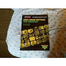 Drum instruction book/Afro Cuban Rythmns for Drumset by Malabe/Weiner