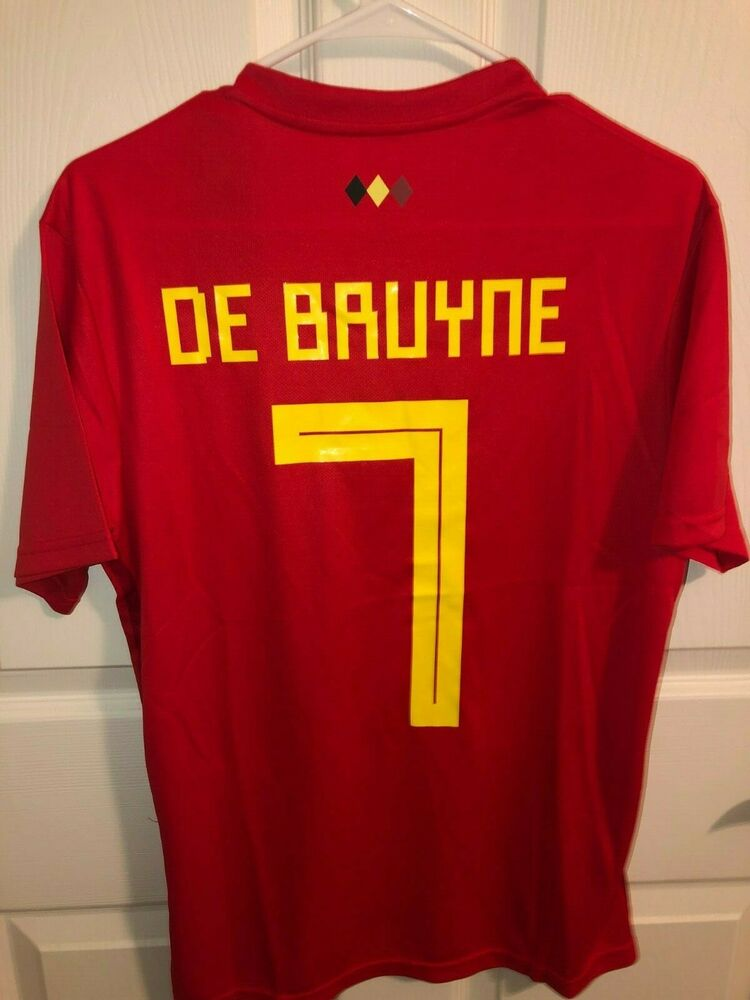 8c26e2476 NWT Kevin De Bruyne  7 Belgium Red World Cup Jersey Stitched Men