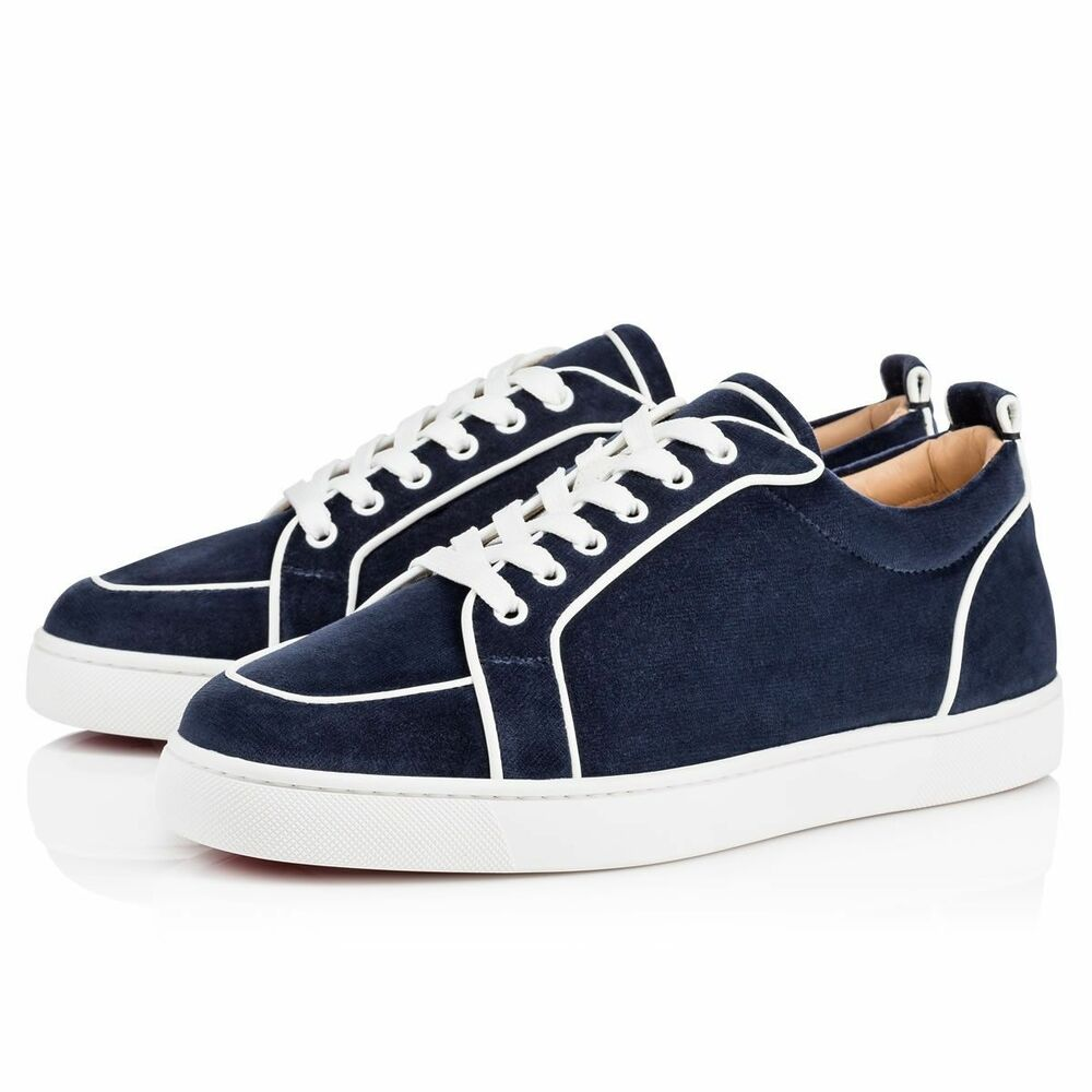 Details about NIB Christian Louboutin Rantulow Orlato Flat Mens Blue White Low  Top Sneaker 39 8ca90fa44c3