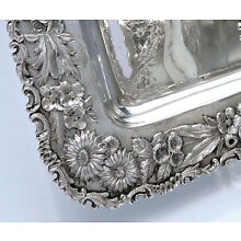 KIRK REPOUSSE Sterling Rectangular TRAY 13