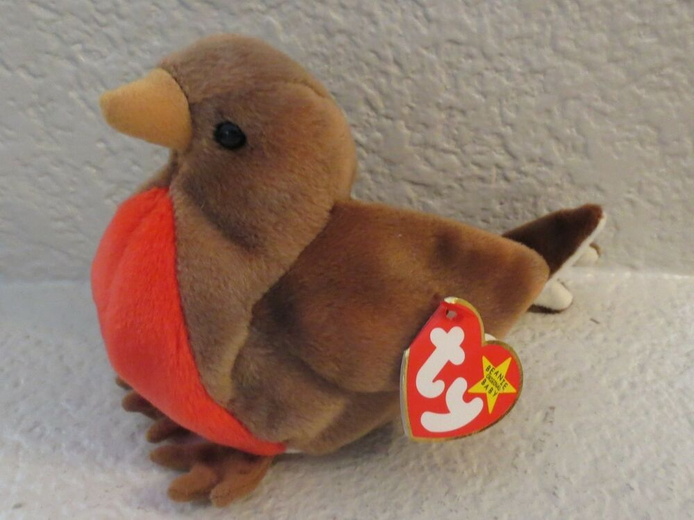 7f19e14b4c8 Details about Ty Beanie Baby Early the Robin 1997 5th Generation Hang Tag  Gasport Tag Error
