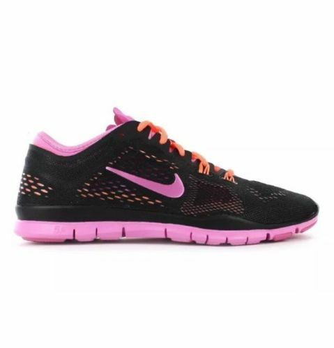 new arrival 84515 36176 Details about NIKE FREE 5.0 TR FIT4 WOMEN'S RUNNING TRAINING SHOES BLACK/RED  629496 002