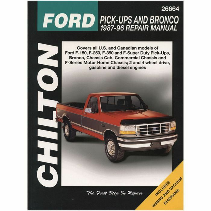 Repair Manual CHILTON 26664 fits 87-96 Ford F-250 | eBay on 96 lincoln town car wiring schematic, 2003 ford explorer headlamp wiring schematic, 96 jeep grand cherokee wiring schematic, 96 ford f-350 lifted, 96 jeep wrangler wiring schematic, 96 ford truck, 96 ford powerstroke pcm location, 1996 ford expedition wiring schematic, 96 dodge ram 1500 wiring schematic,