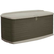 Rubbermaid Outdoor Deck Storage Box Pool Supply Toy Backyard Yard Waste New