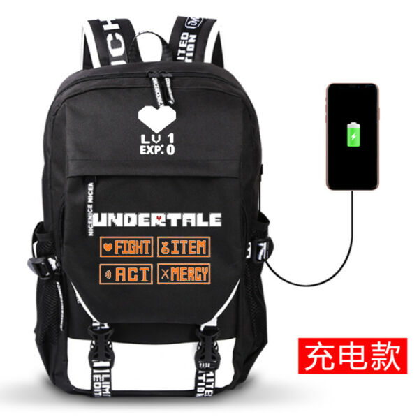 Anime Undertale Unisex Backpack School Bag Harajuku Shoulder Bag Holiday Gift#07