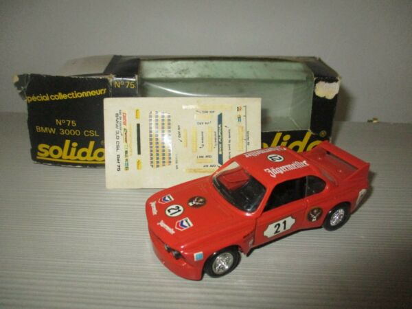 BMW 3000 CSL N°75 OBSOLETO SOLIDO SCALA 1:43