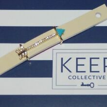 Keep Collective Keys LARGE PAVE ARROW - TURQUOISE - GOLD