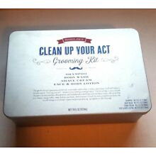 TRADER JOE'S Clean Up Your Act Mens Grooming Kit Shampoo Shave Cream Wash Lotion