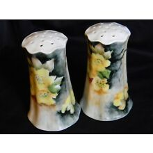 ANTIQUE PORCELAIN HAND PAINTED MUFFETEERS/SHAKERS, SIGNED BY ARTIST