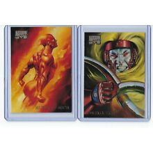1996 Marvel Masterpieces #21 Human Torch &  #31 Omega Red (Lot of 2)