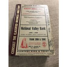 Staunton Virginia City Directory 1968 Consult The Classified Business Directory