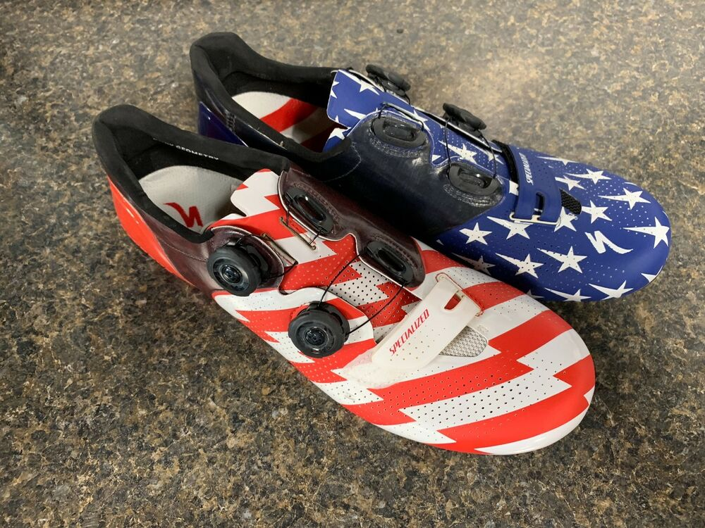 8c0972c241d Details about Specialized S-Works 6 Road shoes limited Red, White, Blue  Flag Stars Sz 45.5 NEW