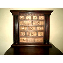 TIGER MAPLE / WALNUT  APOTHECARY CHEST/ CABINET. DOVETAILED DRAWERS