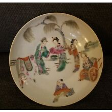 Qing Dynasty Chinese Antique Xianfeng Mark plate ceramics porcelain