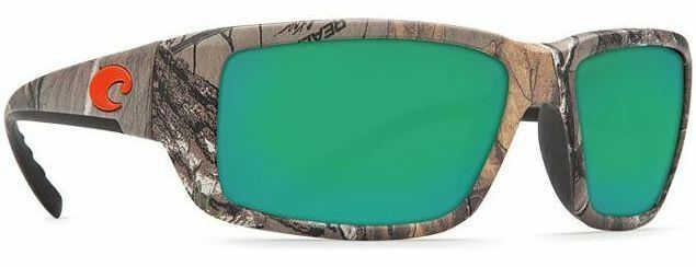 33cbb5dce8 Details about NEW Costa Del Mar Fantail Realtree Xtra Camo Green Mirrored  400G