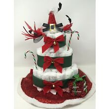 Christmas Time Baby Diaper Cake For Girl And Boy,Gender Party, Baby Shower Gift
