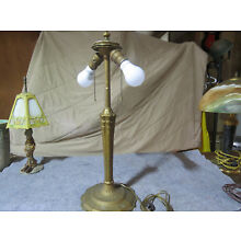 Antique Lamp Base for Art Nouveau Painted Stained or Slag Glass Shade Handel Era
