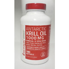 Bronson Antarctic Krill Oil 1000 mg with Omega-3s EPA, 180 Softgels, New