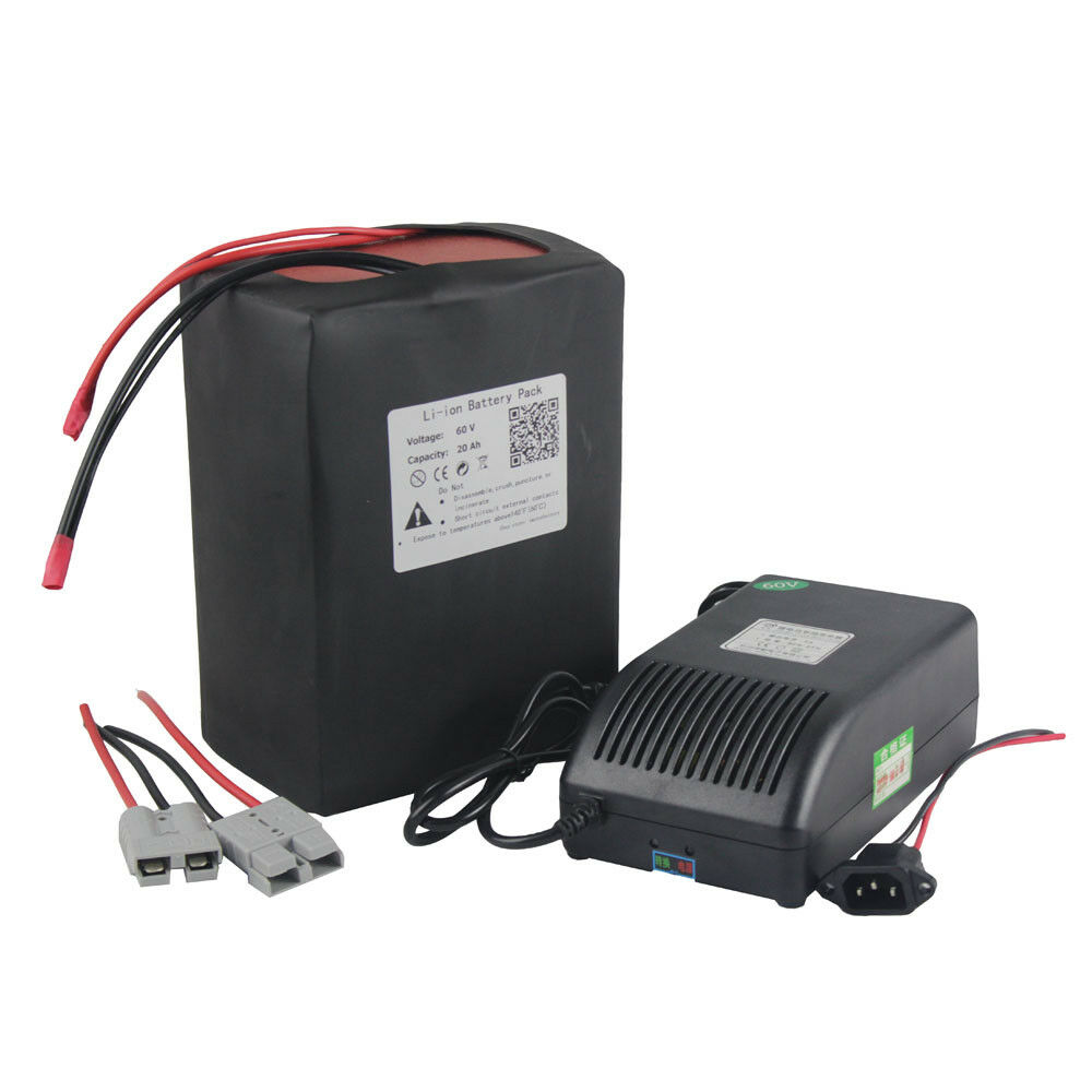 Electric Bike Battery 60v 714v 20ah Lithium Ion Li W 5a Cellphone Charger Using 50a Bms