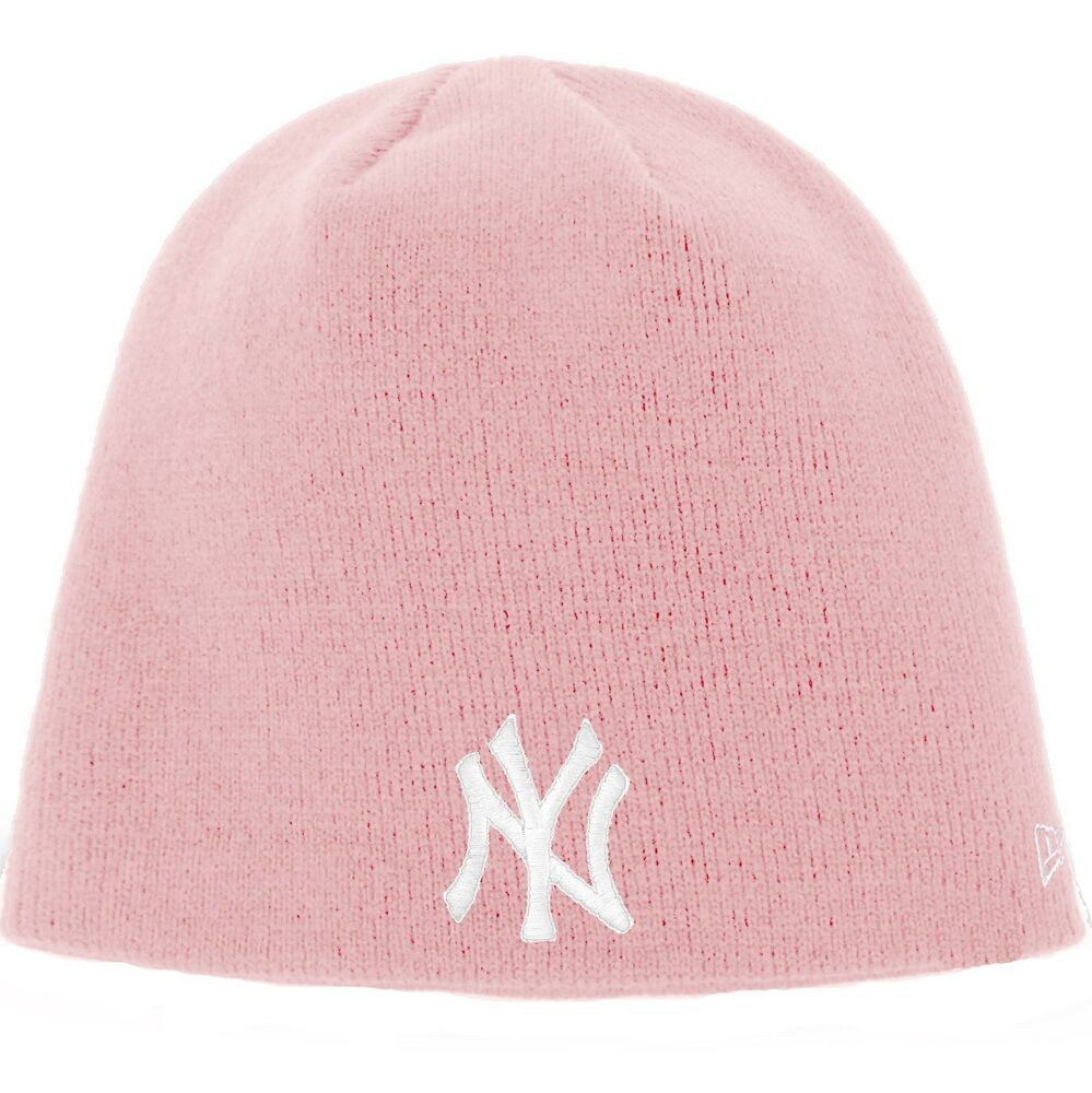 Details about New Era New York Yankees Knit Hat - Licensed  Adult  Pink f22d778b22c