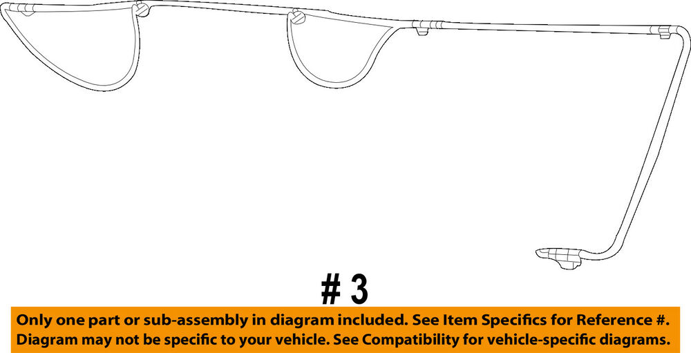 details about dodge chrysler oem 13-14 avenger license lamps-rear lamps-wire  harness 5165733aa