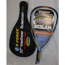 E-FORCE BEDLAM 190 RACQUETBALL RACQUET 22 190G TRI-CARBON TITANIUM NEW NICE L@@K