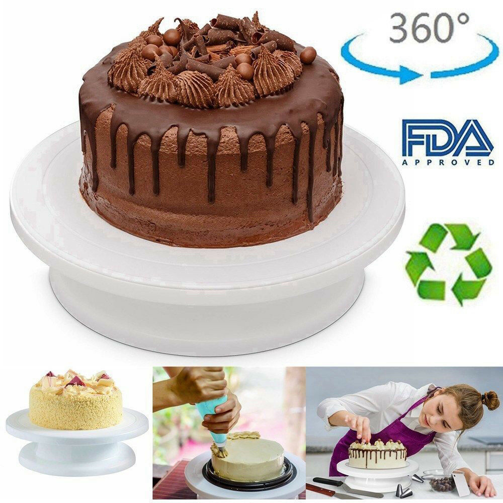 28cm Rotating Cake Icing Deocrating Revolving Kitchen