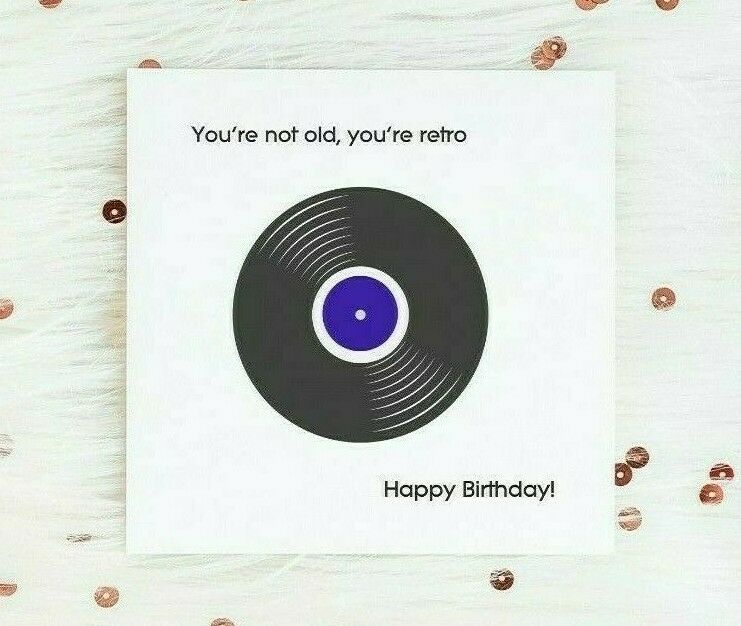 Funny Retro Birthday Card Cards Music Theme