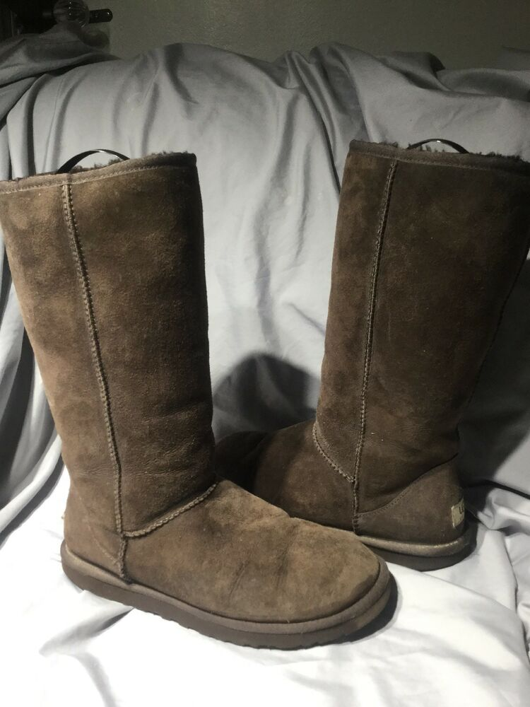 865a9035be6 UGG Australia Womens Chocolate 9 Boots Classic Tall #5815 Shearling ...
