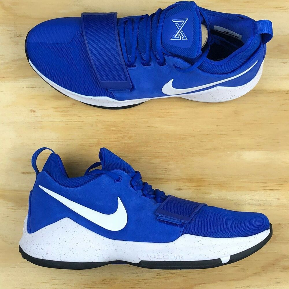 18d9f966e512 Details about Nike PG 1 Paul George Game Royal Blue White Basketball Shoes   878627-400  Size