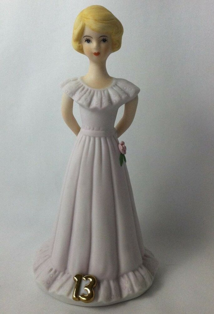 Details about Vtg 1981 Enesco Growing Up Birthday Girls Porcelain 13 Year  Old Teen Blonde Hair