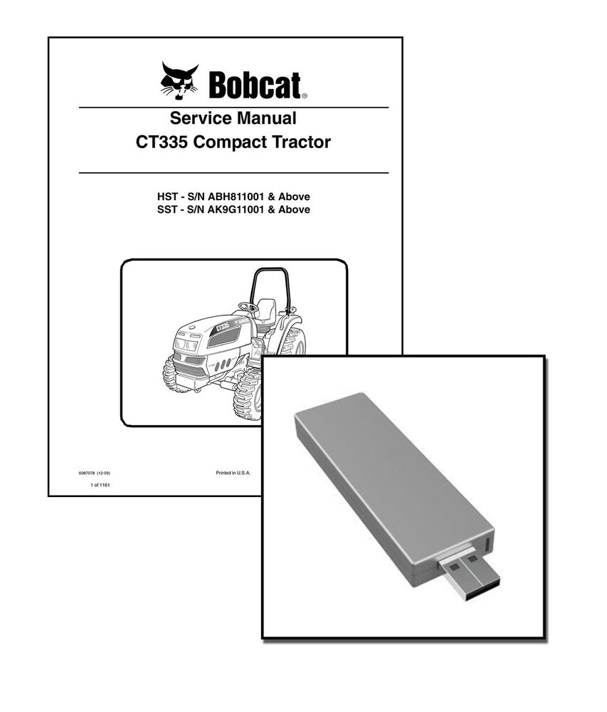 Bobcat CT335 Compact Tractor Workshop Repair Service Manual USB Stick +  Download | eBay