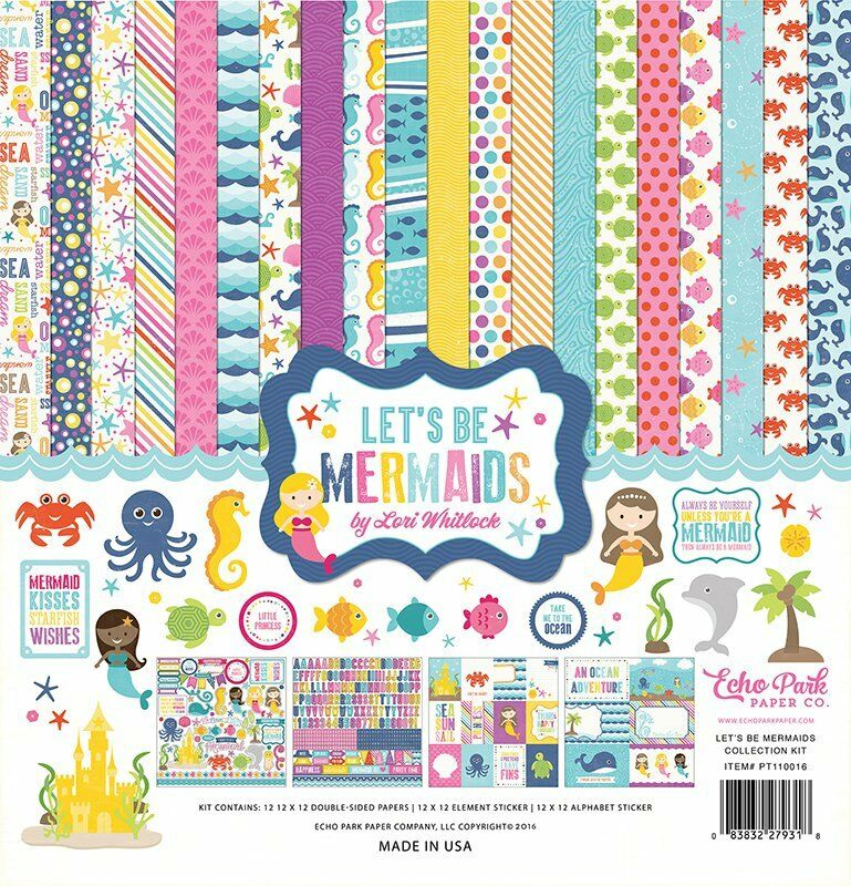 UPC 752830000070 product image for Echo Park Paper Co. 12 X 12 Paper Let's Be Mermaids Collection Kit | upcitemdb.com