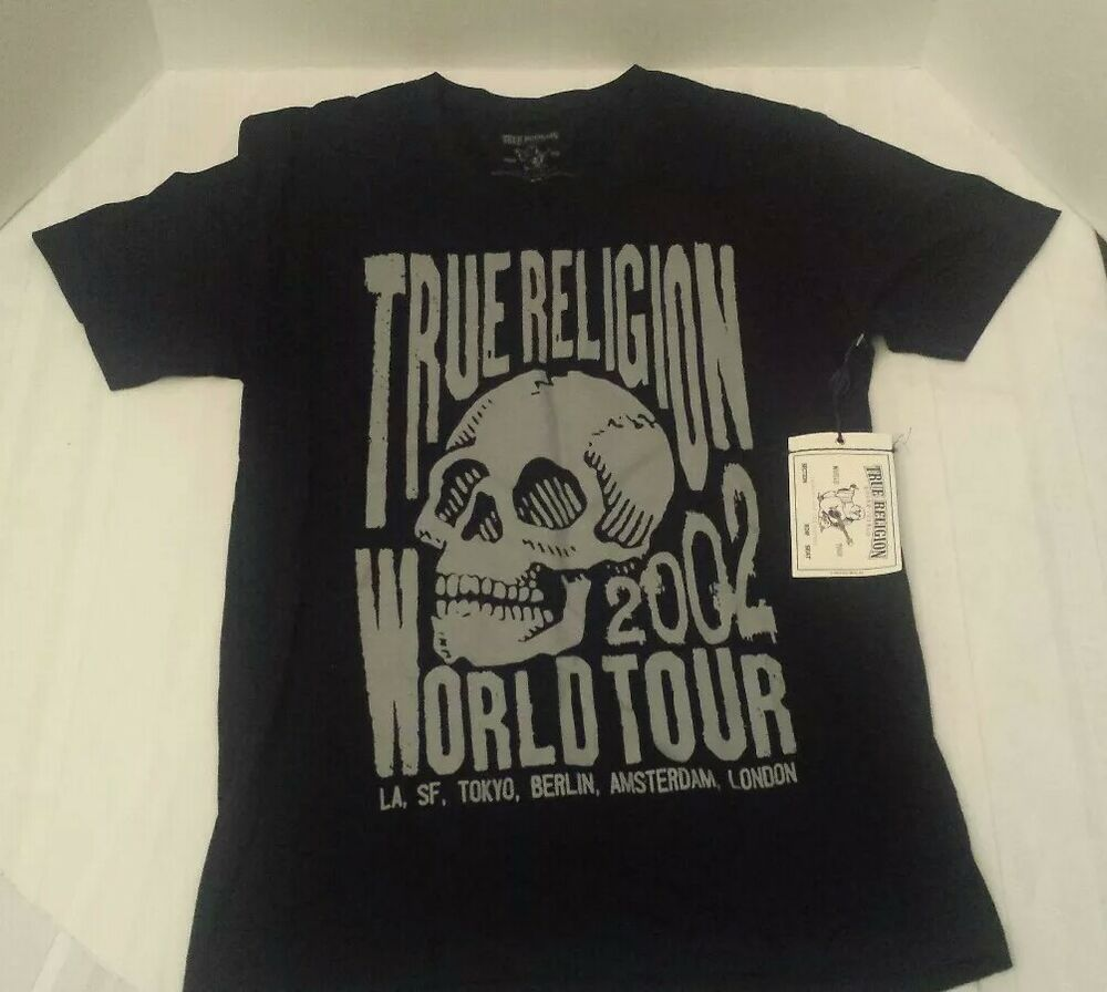 6c6197e51 Details about New With Tag True Religion Black Skull Men T-Shirt Size M