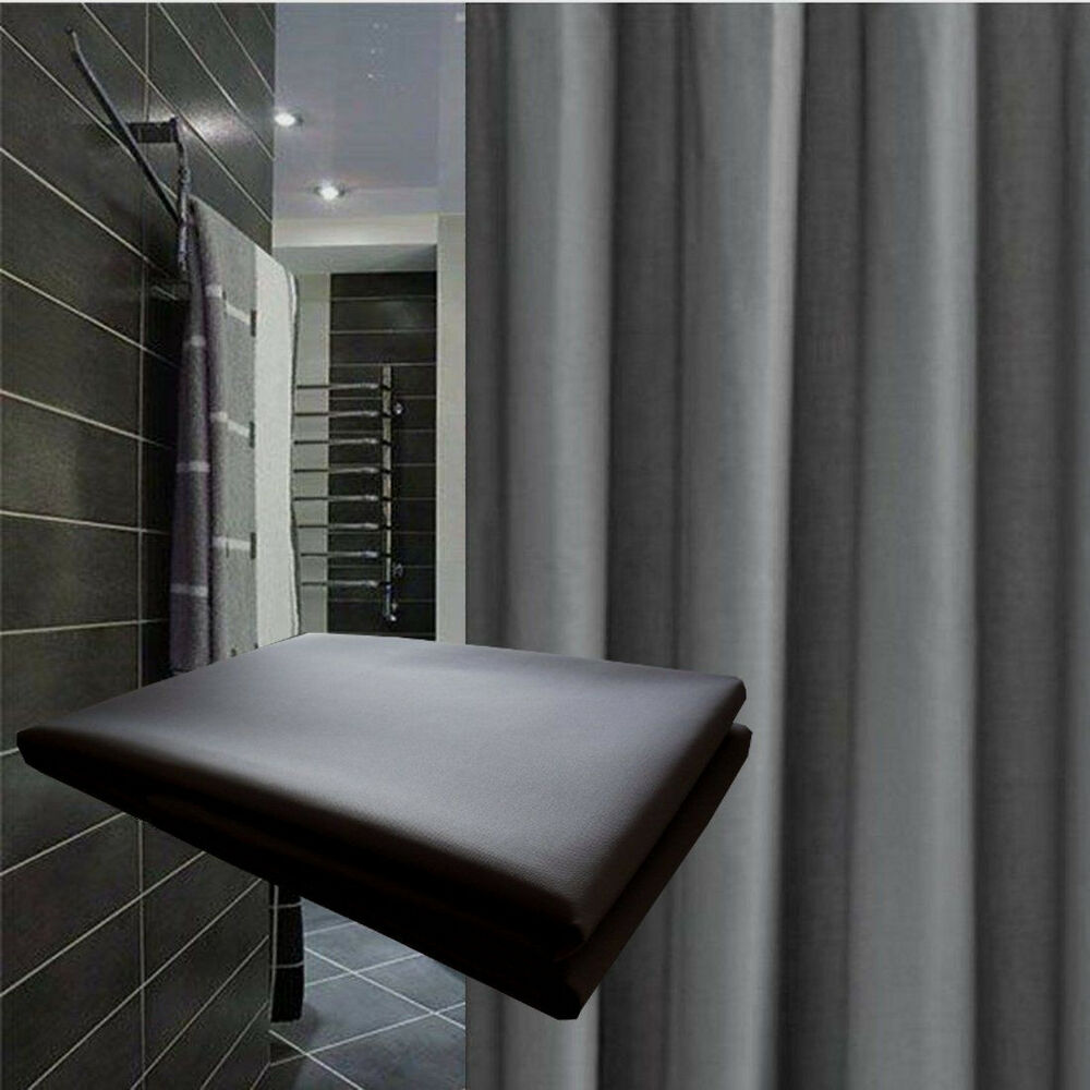Details About Clearance Dark Grey Shower Curtain 22m L New Free Shipping