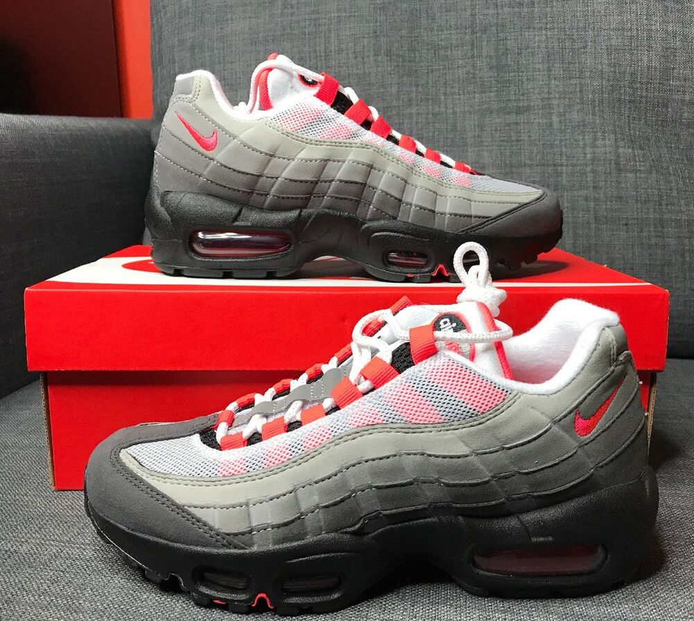 san francisco 6381a c67c5 Details about Nike Air Max 95 OG Solar Red AT2865-100 Mens Size 5 Womens 6.5