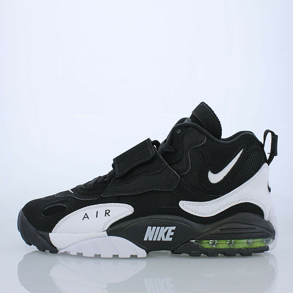 bbf10ec4f2 Details about Nike Air Max Speed Turf Sz 10 Black White Yellow Deion  Sanders oreo 525225-011