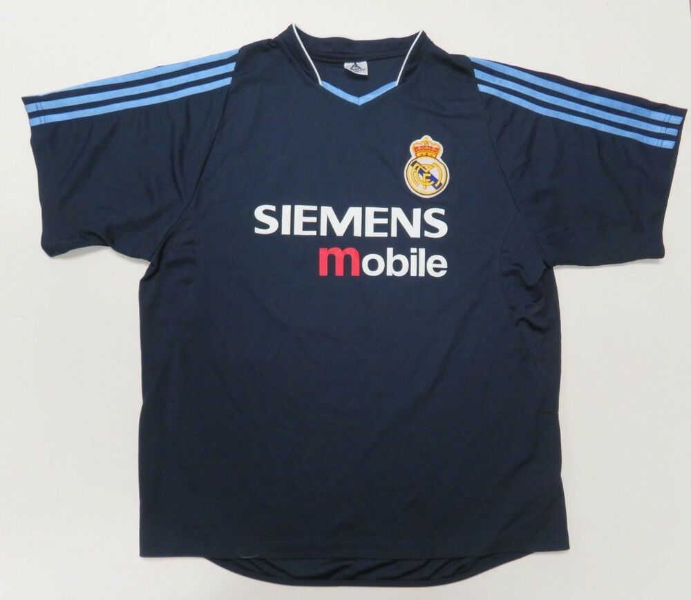 6090ac941 David Beckham Siemens Mobile Real Madrid Soccer Jersey Mens Large Blue  23