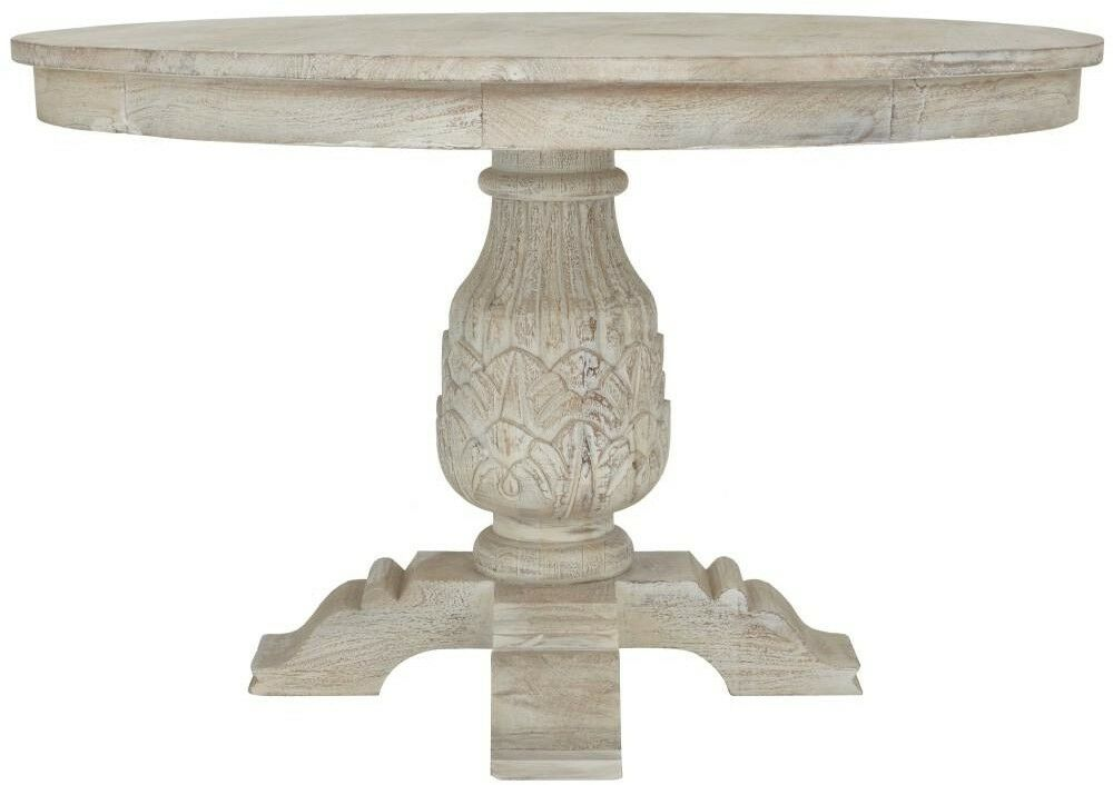Details About Home Decorators Collection Kingsley Sandblasted White Round Dining Table