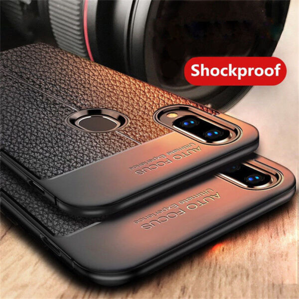 For Huawei P Smart 2019 P20 P10 Lite Shockproof Soft TPU Leather Back Case Cover