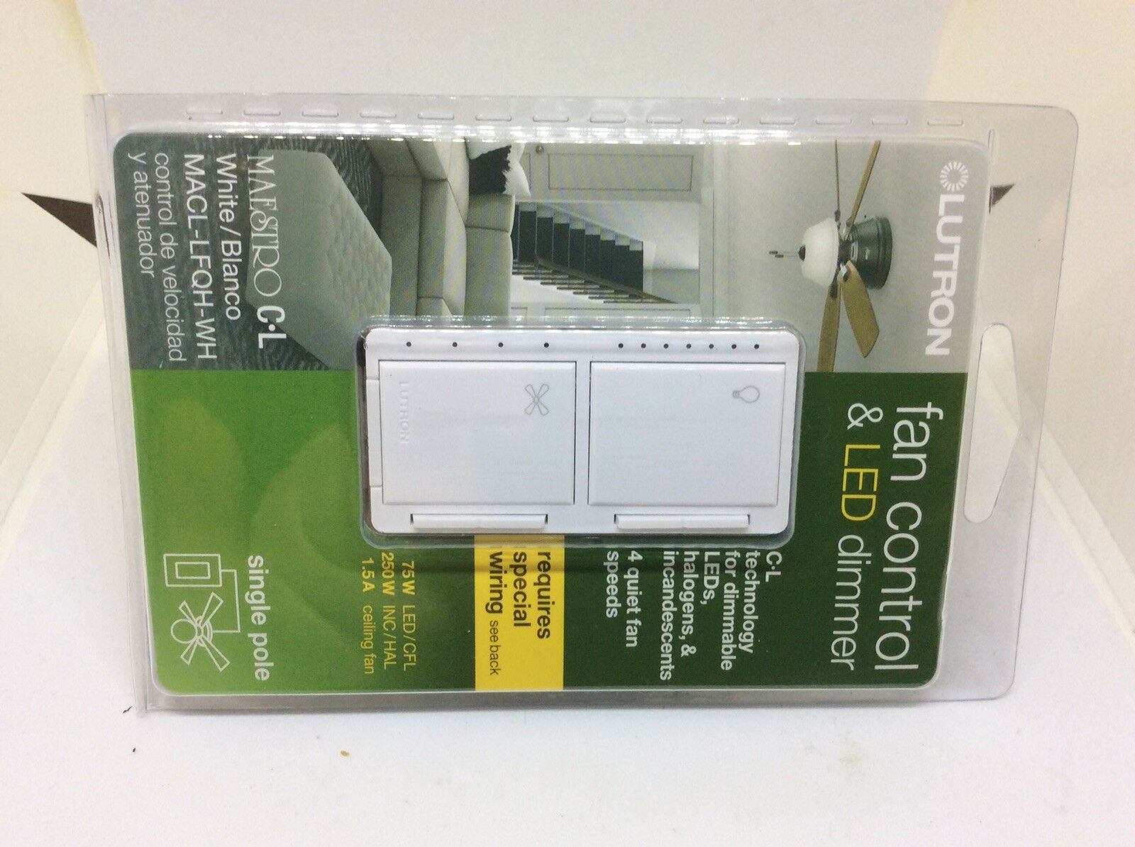 UPC 784276239264 - Maestro Fan Control and Light Dimmer for