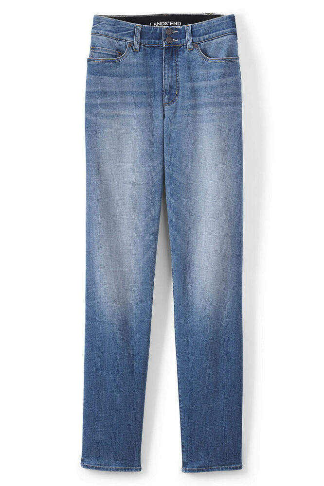 8d35266083e Details about Lands  End NWT Women s Plus Size Mid Rise Straight Fit  Shaping Jeans MSRP  79.95