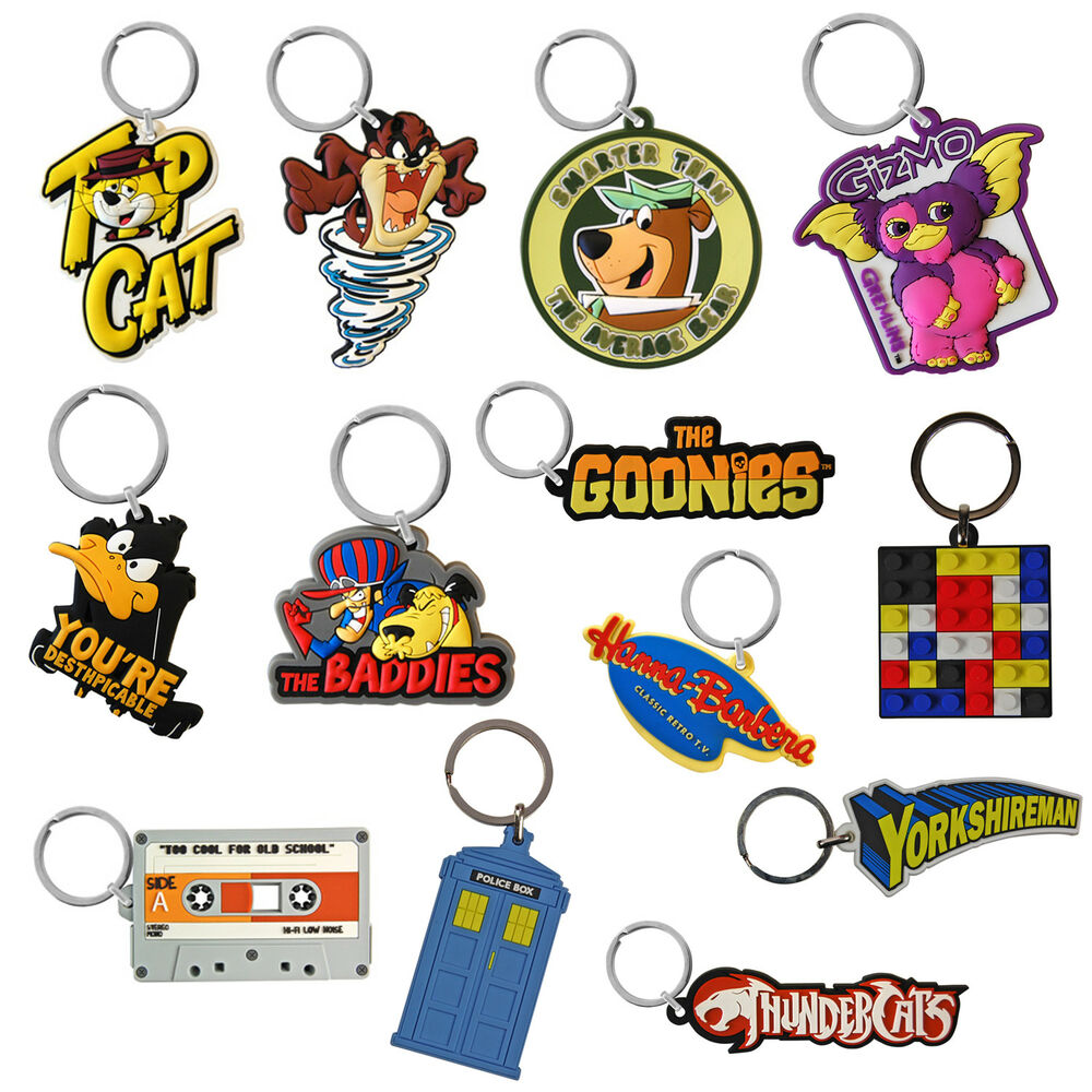 Details about Retro Novelty Keyrings. Cool Funky TV Film PVC Enamel Keychain  Ideal Small Gift deaa357a0564