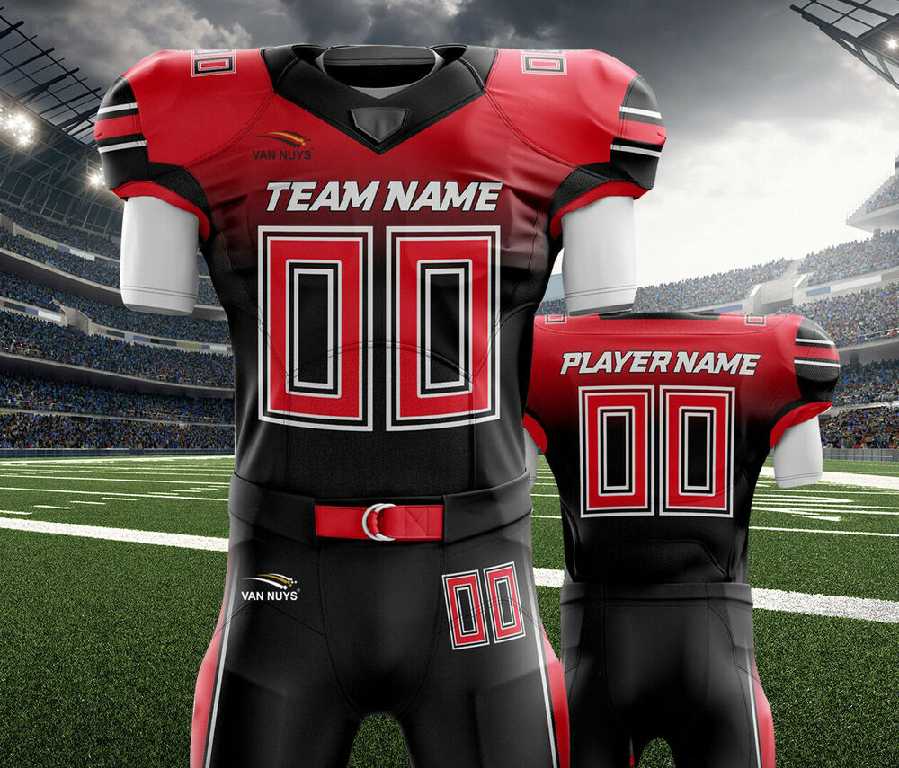 8c897230e51 Details about Custom American Football Uniforms Sublimation 11 Set Jersey  and Pant Adult youth