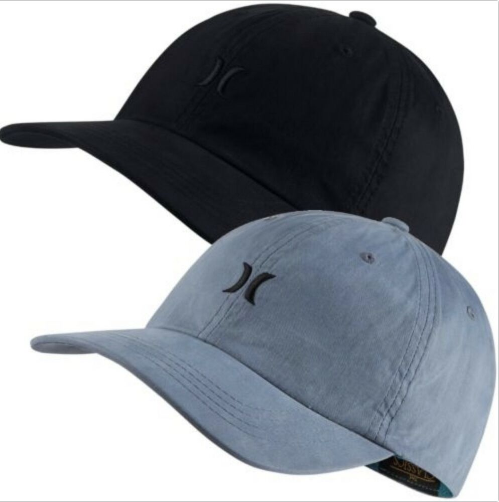 Details about Hurley Chiller Adjustable Hat Black Blue MHA0008150 Baseball  Cap Dads Hat 494fc2507b6
