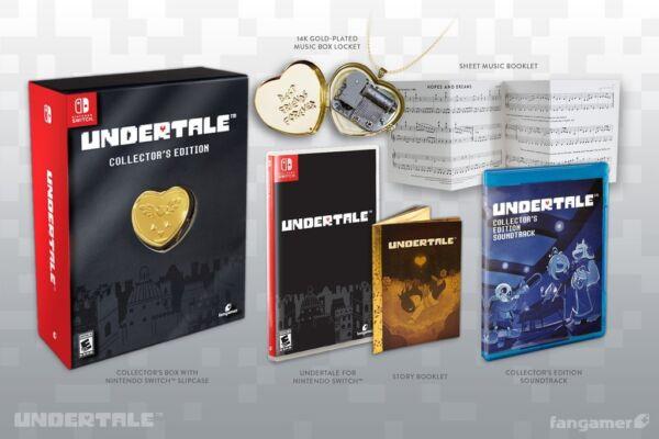 Undertale Collector's Edition Nintendo Switch + Music Box 14K Gold Locket